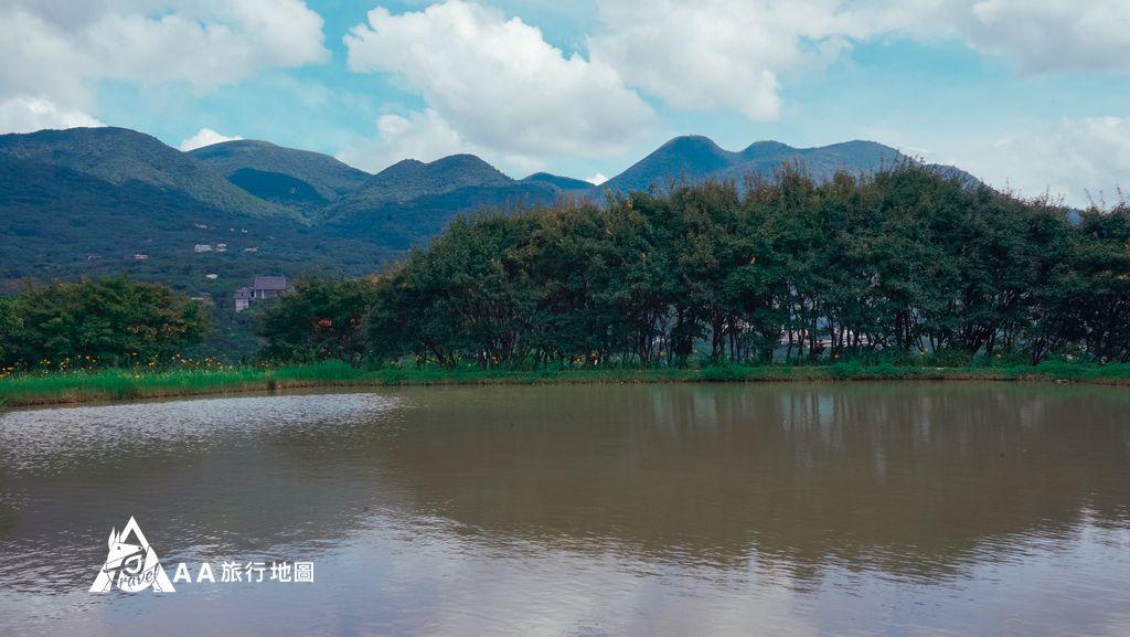 三芝田心子平靜的湖水