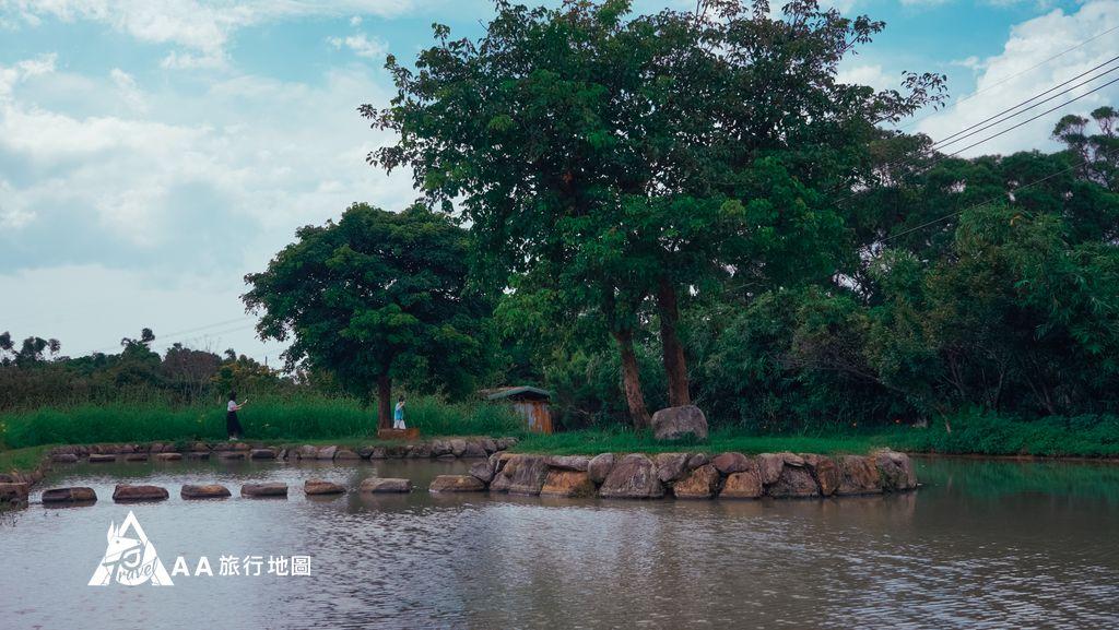 三芝田心子水中央的小平台