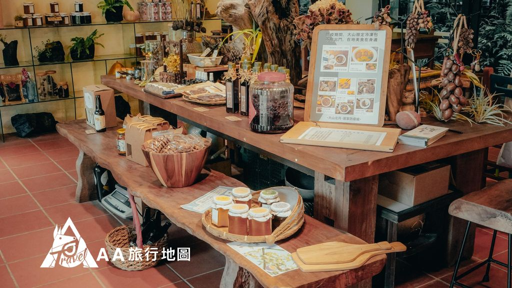 大山北月 一到餐廳就可以看到各式各樣在地的農產品