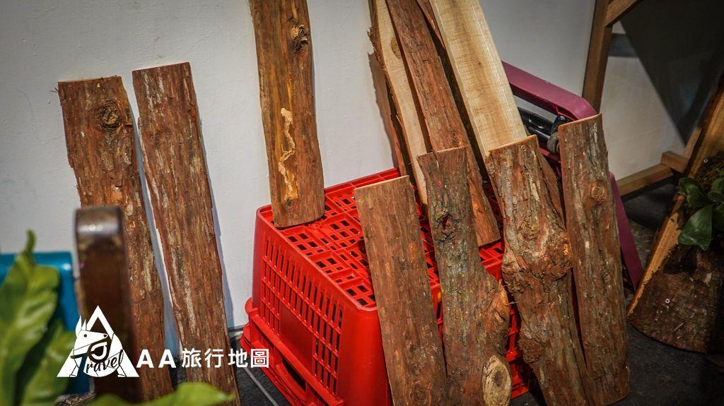 大山北月 木頭也是可以選擇自己喜歡的來製作喲