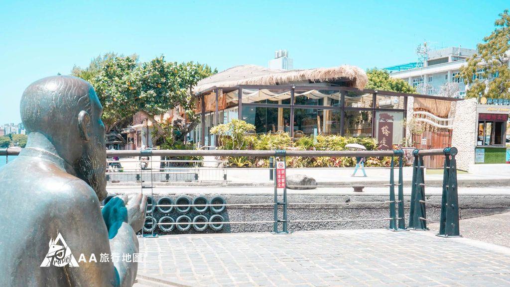 水灣餐廳榕堤你是誰為什麼一直看著榕堤的方向呢?