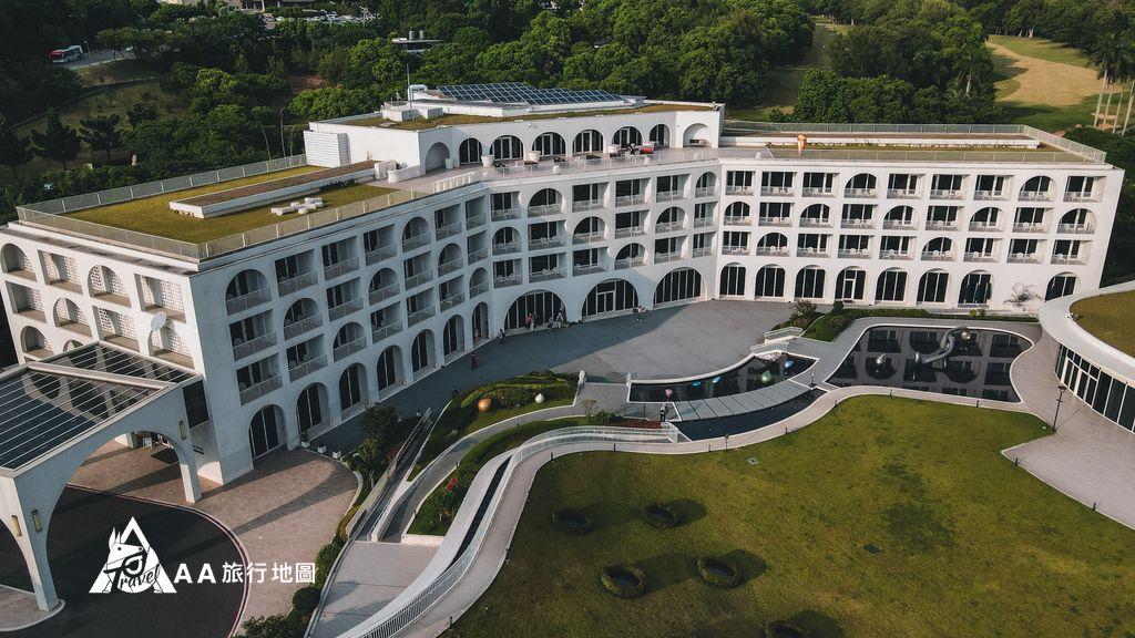 淡水將捷金鬱金香酒店空拍右側45度角