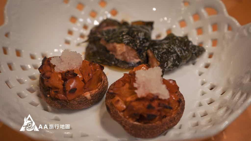 蟬說和社山林這是香菇搭配蘿蔔泥,很好吃