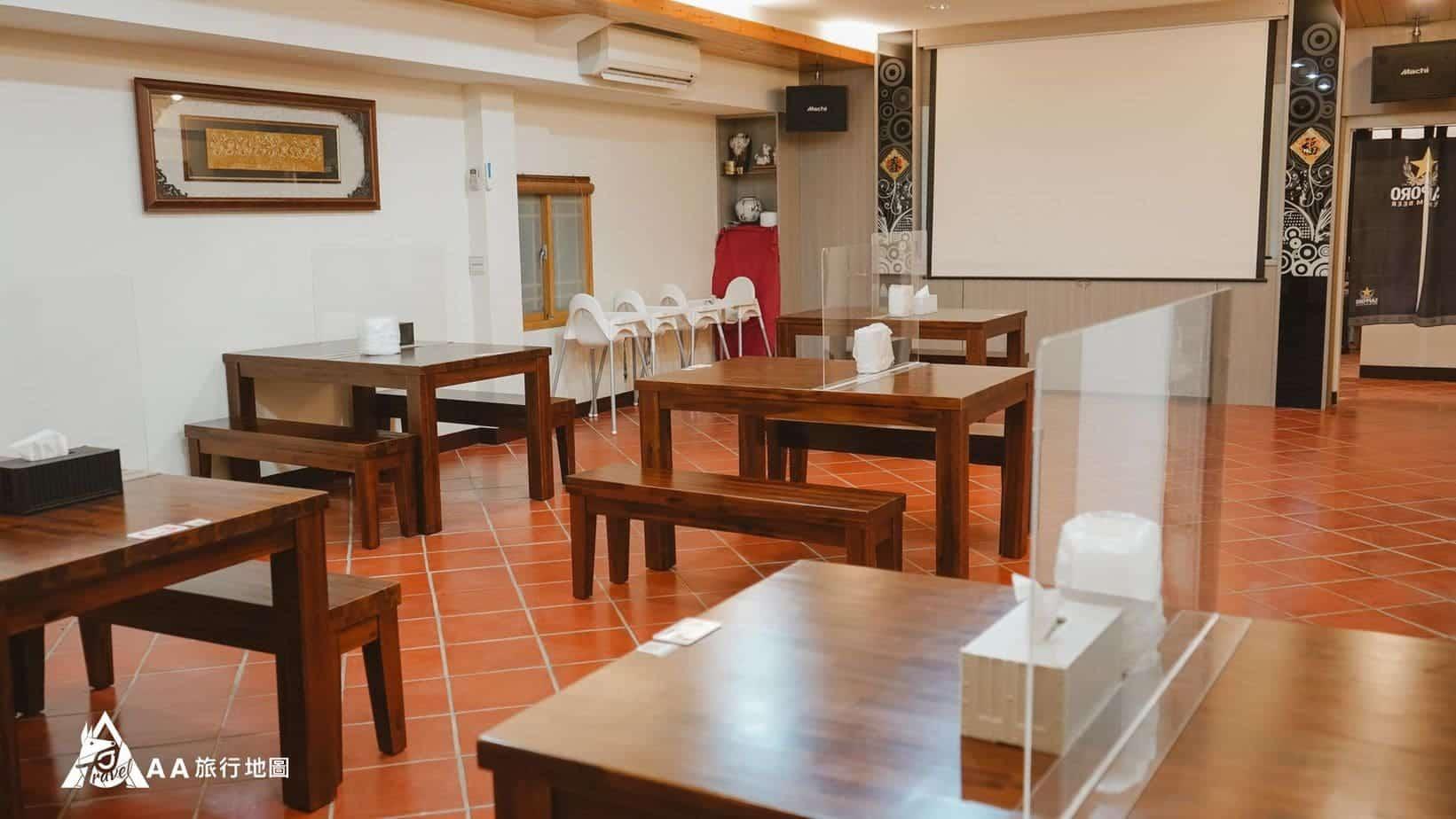 行荷居 也有專門提供商業簡報或開會使用的場地