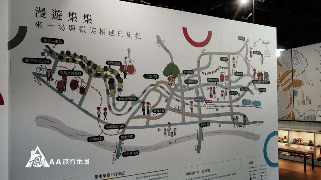 集集車站可以先到車站旁邊的展場裡面會有集集附近的景點可以參考