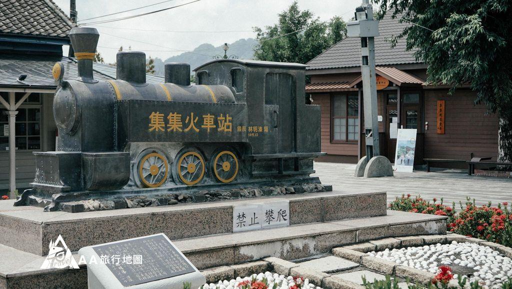 集集車站門口有個代表性的火車可以拍照喲