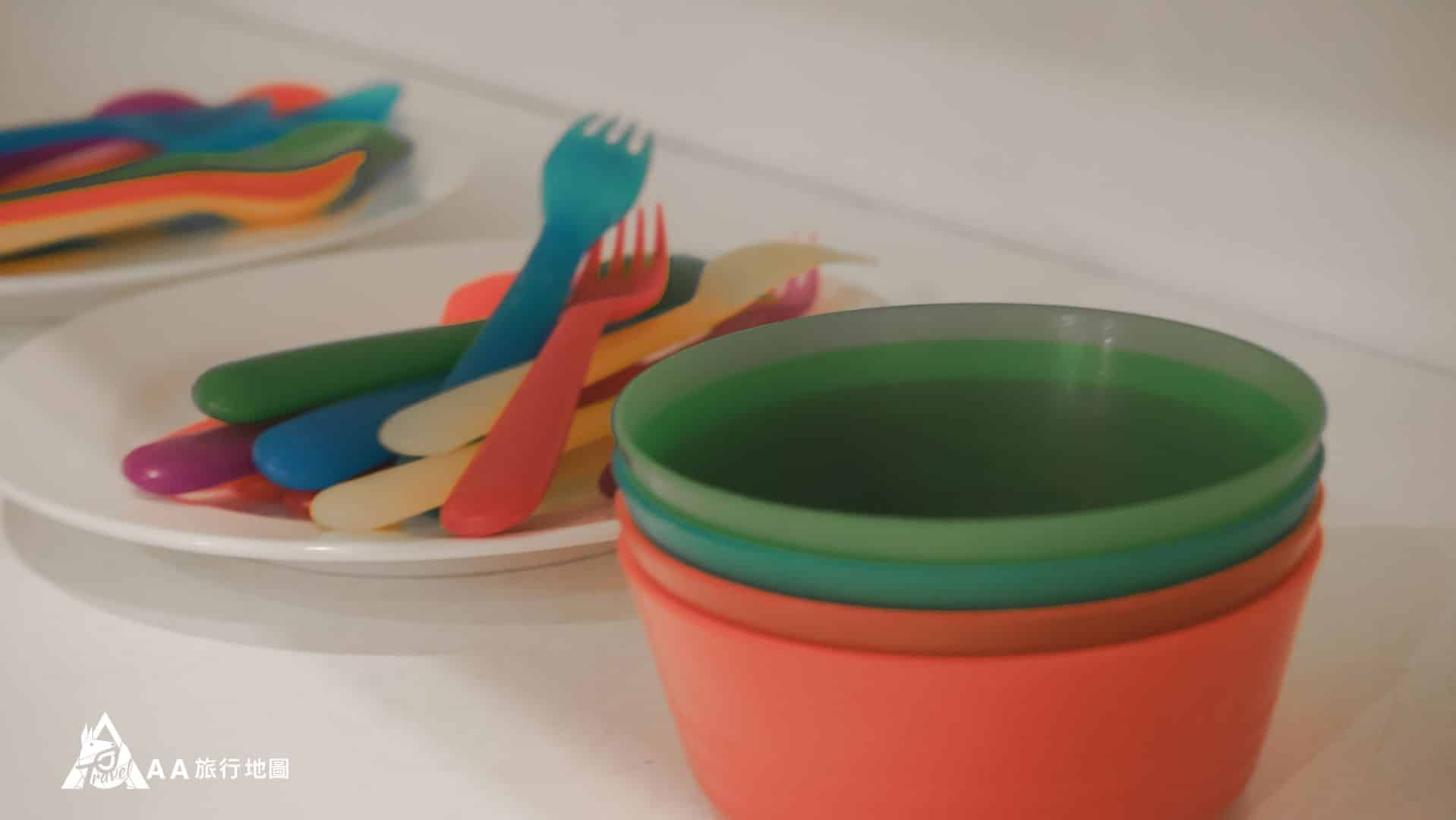 鳳凰亭序 很貼心的準備了小朋友的餐具