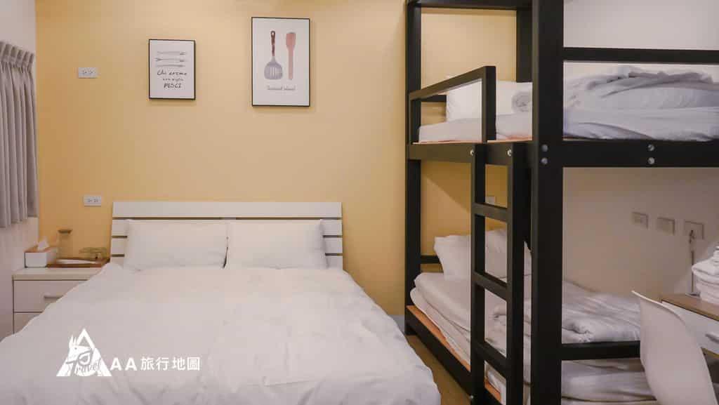 TAIPEIYES四人家庭房,很有效的利用了空間,適合家庭旅行