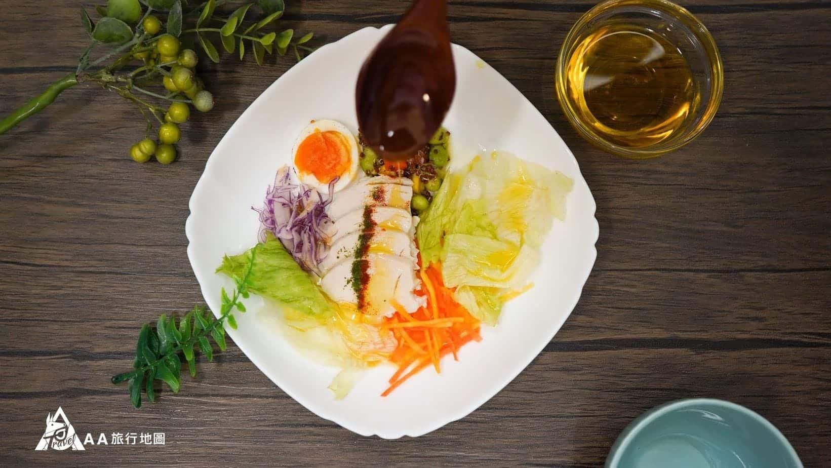 monini-初榨橄欖油塔配沙拉